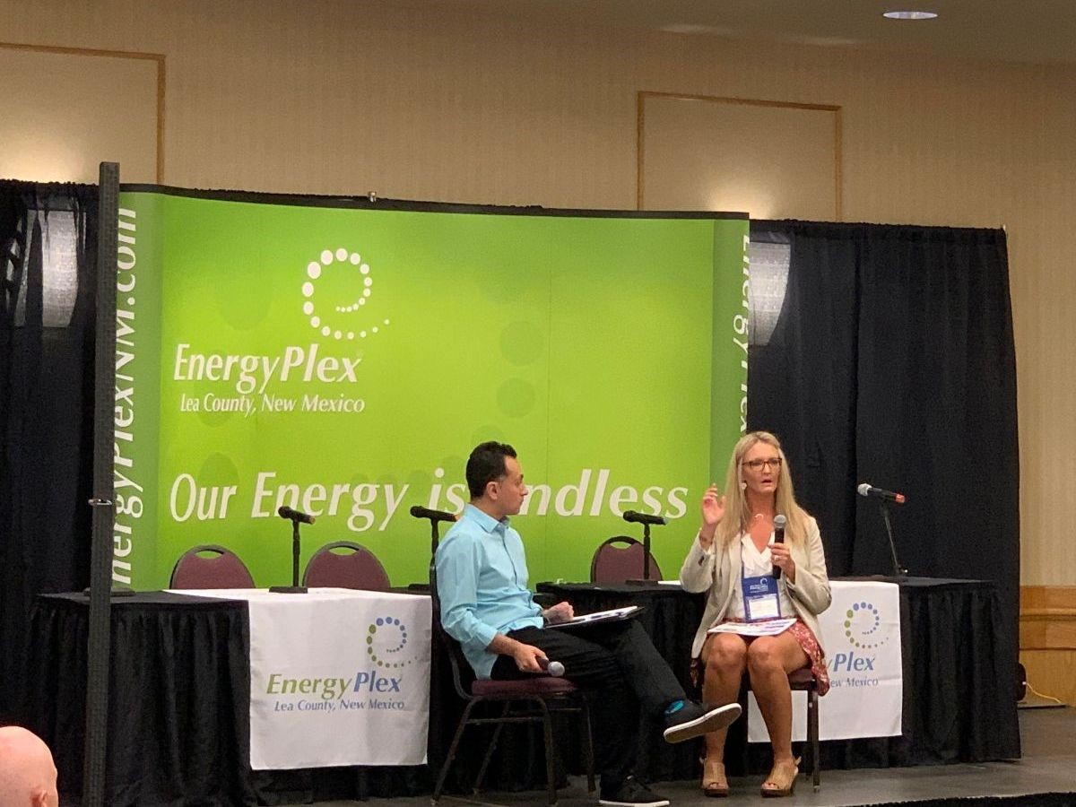 Tracee Bentley speaking at Energyplex Conference