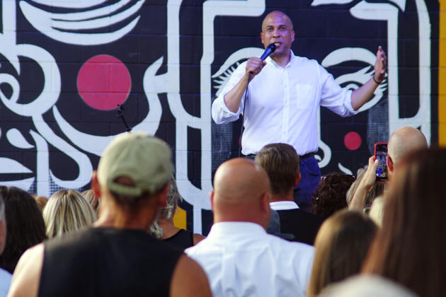 US Senator Cory Booker addresses crowd in Albuquerque