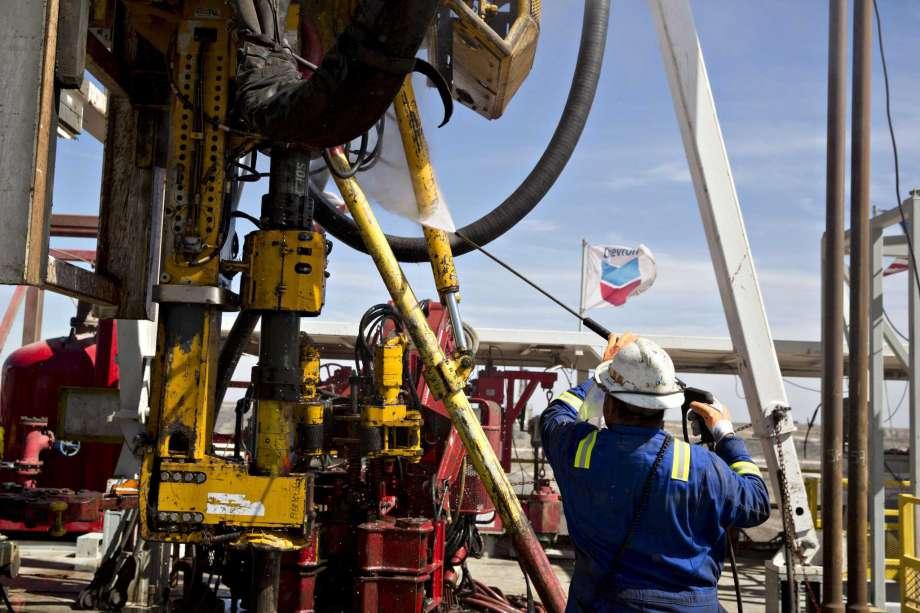Chevron drilling rig