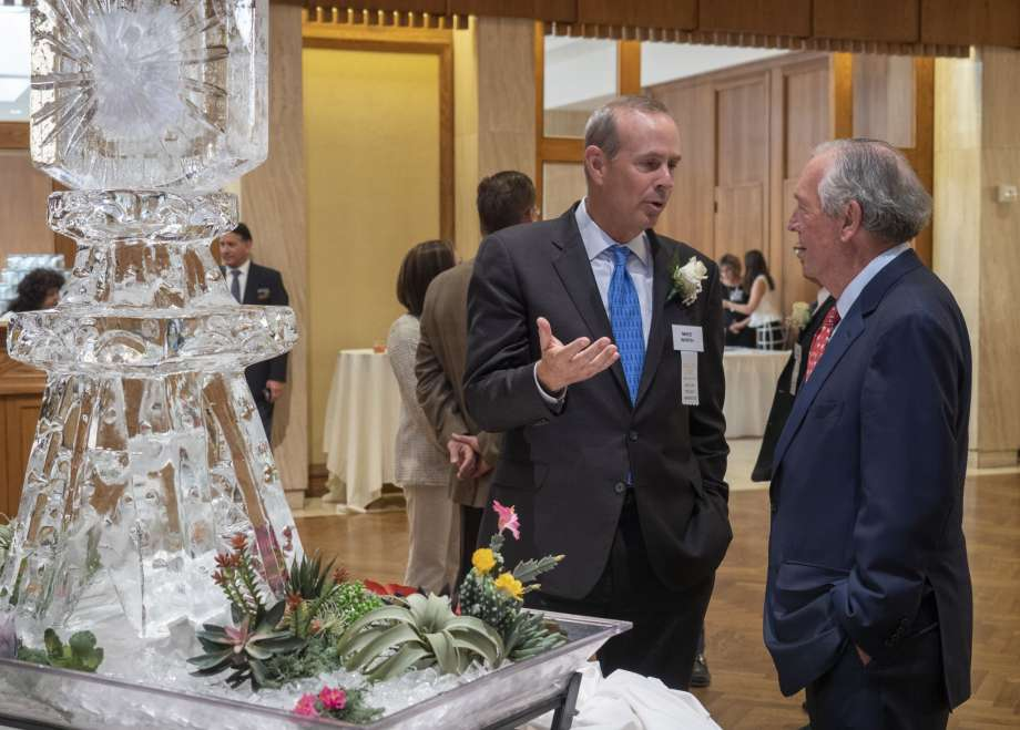 Chevron CEO Mike Wirth with Don Evans