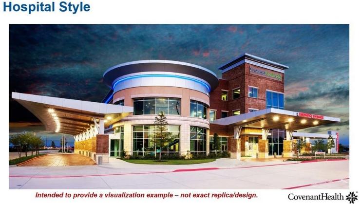 Covenant Health hospital rendering in Hobbs NM