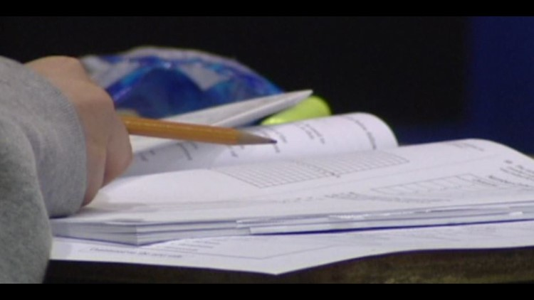 schoolwork closeup