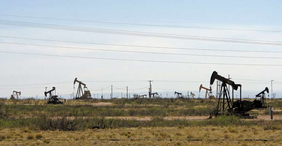 pumpjack field in west Texas